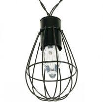 LED Solar Light Chain Garden Decoration Black 350cm 8LED