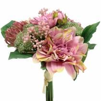 Bukiet Dahlia, Protea 25cm