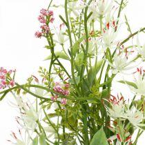 Wiosenny Bukiet Sztucznych Kwiatów Różowy, Biały, Zielony Bukiet Sztucznych Kwiatów H43cm