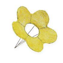 Mankiet sizalowy żółty Ø20cm Mankiet kwiatowy 8szt.