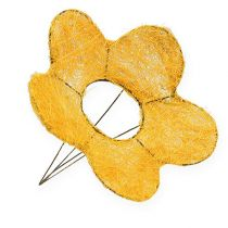Sisal Flower Cuff Żółty Ø25cm 6szt