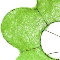 Mankiet bukiet sizalowy zielony Ø15cm 10szt