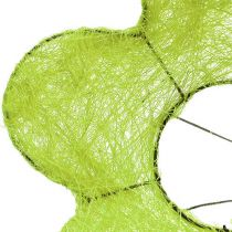 Mankiet sizalowy kwiat zielony Ø25cm 6szt