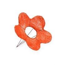 Sizalowe mankiety kwiatowe pomarańczowe Ø15cm 10szt.