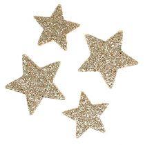 Scatter Stars Light Gold Mica 4-5cm 40szt