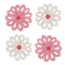 Rozproszone kwiaty 3cm różowe, kremowe 60szt
