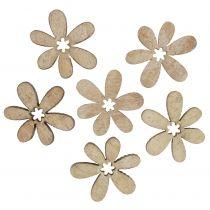 Kwiaty dekoracyjne rozsypane 2cm natura 144szt