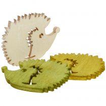 Dekoracja rozproszona jeż z drewna kolorowy sortowany 4cm 72szt.