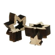 Dekoracja rozproszona drewniane liście 1cm - 2cm natura 192szt.