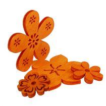 Dekoracja z drewna rozproszonego kwiat pomarańczy 2cm - 4cm 96p