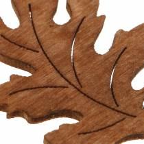 Dekoracja rozproszona liść klonu dąb 4cm 72szt.