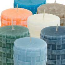 Świece filarowe Rustykalne 80/65 Świece różne kolory 2szt.