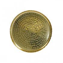 Taca Orient Optics, Deco Plate Golden, Metal Deco Ø18,5cm