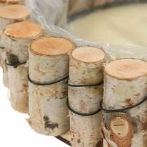 Taca z drewna brzozowego naturalna okrągła Ø24cm
