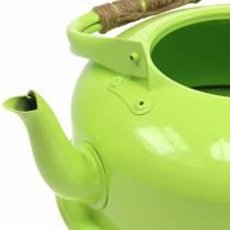 Planter Teapot Zinc May Green Ø26cm H15cm