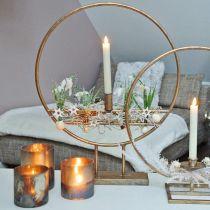 Słoik na świecę, lampion dekoracyjny, dekoracja stołu antyczny wygląd Ø9,5cm H10cm 4szt.