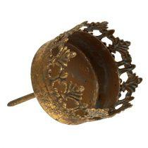 Stojak na tealight złoty antyk Ø5cm H10cm 1szt.