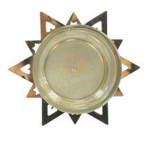 Podstawka pod tealight gwiazdka złota 23,5cm 4szt.