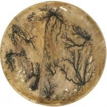 Płytka dekoracyjna drewno naturalne, efekt złotego spękania drewno mango Ø30