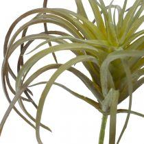 Tillandsie sztuczna roślina do wtykania zielono-purpurowa 13cm