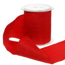 Wstążka stołowa czerwona Crash 100mm 15m