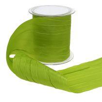 """Wstążka stołowa """"Crash"""" zielona 100mm 15m"""