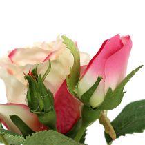 Dekoracja stołu różana w kremowym garnku 14 cm