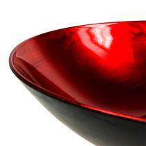 Miska do dekoracji stołu czerwona Ø28cm plastikowa