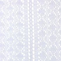 Bieżnik stołowy szydełkowy koronkowy biały 30cm x 140cm