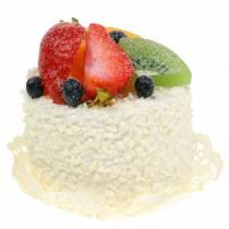 Dekoracyjna babeczka z owocami truskawka atrapa spożywcza 7cm