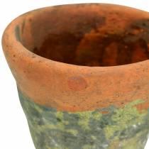 Doniczka Roślina Vintage Glinka Naturalna Ø14,5cm H12cm 2szt.