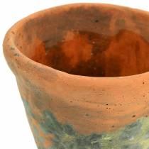 Doniczka Roślina Vintage Glinka Naturalna Ø11,5cm H9cm 3szt.