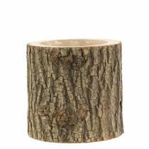 Doniczka z drewna wiązu Ø11-13cm W11cm