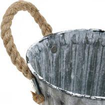 Donica z uchwytami, metalowa donica, donica antyczny wygląd Ø12cm