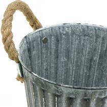 Metalowa donica do sadzenia, sadzarka, misa do sadzenia z uchwytami Ø18cm