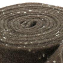 Taśma doniczkowa filcowa brązowa z kropkami 15cm x 5m