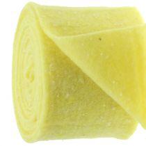 Taśma doniczkowa filcowa żółta z kropkami 15cm x 5m