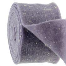 Taśma do doniczek taśma filcowa fioletowa w kropki 15cm x 5m