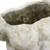 Doniczka Torso Mężczyzna Szary 19×13,5cm H28cm