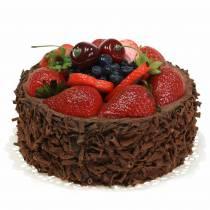 Tort z kremem czekoladowym sztuczny Ø15cm H11,5cm