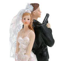 Figurka panny młodej i pana młodego na torcie 15,5cm