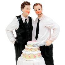 Figurka mężczyzny z tortem 16,5cm