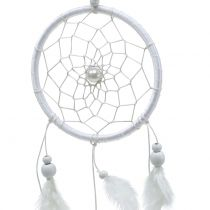 Dreamcatcher z piórami biały 50cm 2szt.
