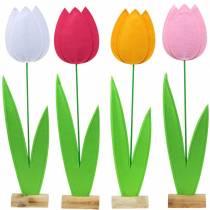 Filcowy kwiat tulipan Różne kolory H88cm