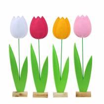Filcowy kwiat tulipan H68cm Różne kolory