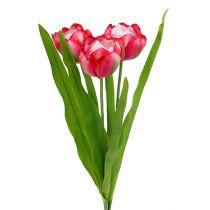 Tulipan sztuczny różowy 60cm 3szt.