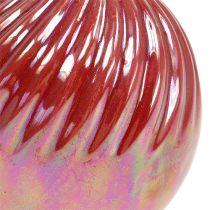 Wazon, Mini Wazon Matka Perłowa Czerwona Ø7,5cm H10cm 6szt.