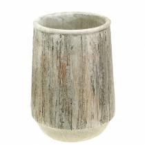 Wazon Cachepot Concrete Wooden Design Ø15cm