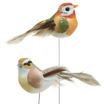 Ptaki na druciku natura 9cm 12szt