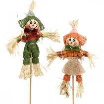 Strach na wróble do dekoracji na patyku Dekoracja jesienna 24szt